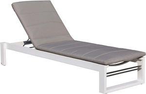 Delorm design - bain de soleil en aluminium et tissu d'oléfine st - Bain De Soleil