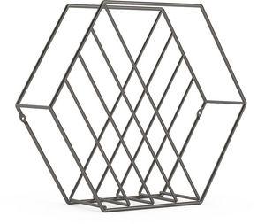 Umbra - rangement magazine structure hexagonale zina - Porte Revues