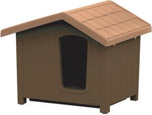 jardindeco - niche pour chien en résine clara taille 4 - Niche