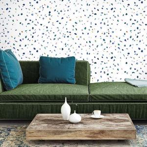 ISIDORE LEROY - terrazzo l bleu - Papier Peint