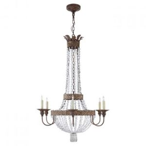 ALAN MIZRAHI LIGHTING - qz5015 lyon flared - Chandelier