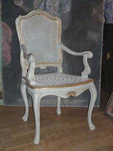 Terra Di Siena - fauteuil louis xv provence - Fauteuil Paillé