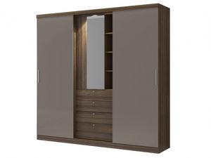 WHITE LABEL - armoire bodil - Armoire Lingère