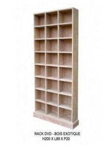 DECO PRIVE - meuble range dvd - Bibliothèque Ouverte