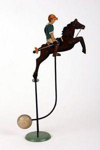 Gros Ours Du Brabant - le joueur de polo - Balancier