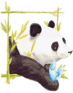 DECOLOOPIO - tableau panda - Sticker Décor Adhésif Enfant