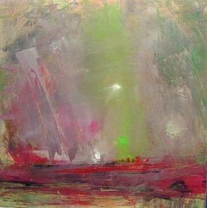 www.maconochie-art.com - arbutus flames - Huile Sur Toile Et Huile Sur Panneau