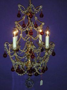 Philippe de Beauvais - fer, cristaux et bois doré - Lustre
