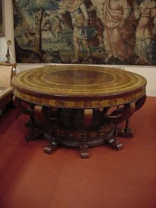 BERGAMO ANTIQUARIATO DI UBIALI MONICA -  - Table De Repas Ronde