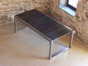 stratos-pizarra - alba - Table De Repas Rectangulaire