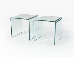 Abode Interiors - glass side tables - Bout De Canapé