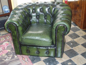 ANTIGÜEDADES BRITANIA - bergère chesterfield - Fauteuil Chesterfield
