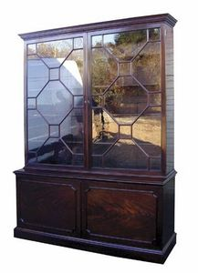 BAGGOTT CHURCH STREET - chippedale mahogany library bookcase - Armoire Vitrine