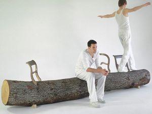 Droog - tree-trunk bench - Banc De Jardin