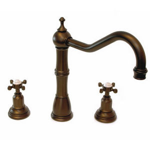 Brass & Traditional Sinks - alsace mixer taps, capstan handles - Mitigeur Lavabo