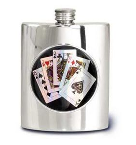 Alchemy Pewter Of Sheffield - 6oz kidney flasks - Fiole