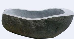 MEMOIRE DES ORIGINES - baignoire pierre brute - Baignoire À Poser