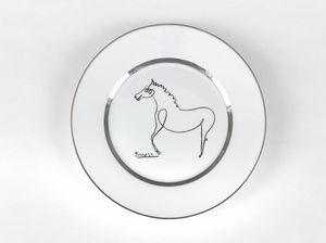 MARC DE LADOUCETTE PARIS - picasso le cheval - Assiette D�corative