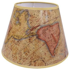 The Original Book Works - world map shade l0501  - Abat Jour