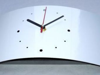 L'HEURE DU DESIGN - horloge design uranus blanche - Horloge � Poser