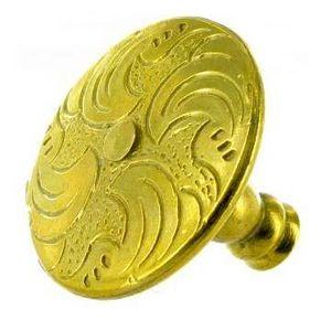 FERRURES ET PATINES - bouton de meuble en bronze grave style louis xiv p - Bouton De Meuble Et De Placard