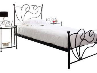 Miliboo - venezia lit 90x190 noir - Lit Simple
