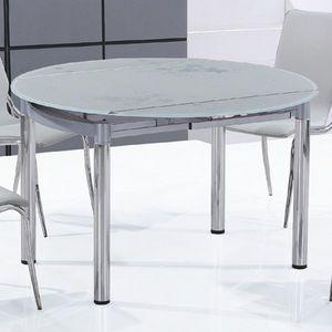 Smart Boutique Design - table en verre ronde nubes - Table De Repas Ronde