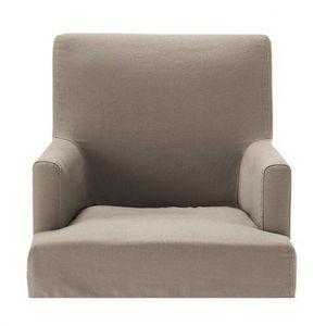 Maisons du monde - housse taupe fauteuil de bar lounge - Housse De Fauteuil