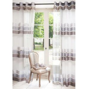 Maisons du monde - rideau matignon gris - Rideaux À Oeillets