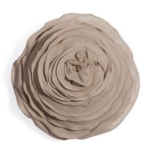 MAISONS DU MONDE - coussin rose gris - Coussin Forme Originale