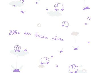 LILI POUCE - stickers all�e des beaux r�ves, violet - Sticker D�cor Adh�sif Enfant