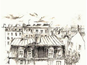 IN CREATION - carnet de voyages - toits de paris - Panneau D�coratif