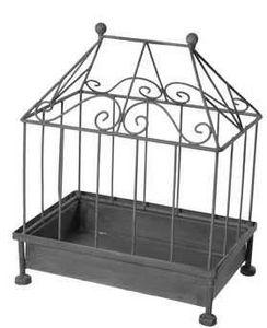 SEMA Design - cage d�corative rectangulaire en m�tal 27,5x18,5x3 - Cage � Oiseaux