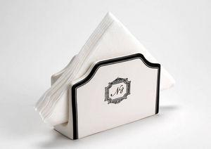 Amadeus - range serviettes en dolomite grand h�tel 15x5x10cm - Pochette Range Serviette De Table