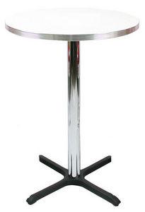US Connection - table mange debout: formica blanc, 76 cm - Table Bistrot