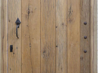 Portes Anciennes - porte de mas en vieux chêne - Porte D'entrée Pleine