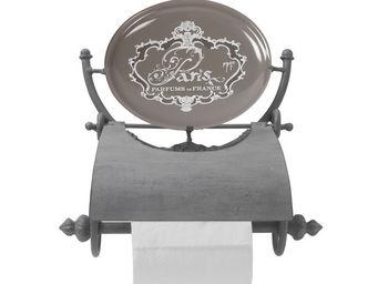Mathilde M - d�rouleur papier toilette paris gris - Distributeur Papier Toilette