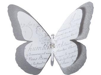 Mathilde M - papillon double � pince roses - D�cor �v�nementiel