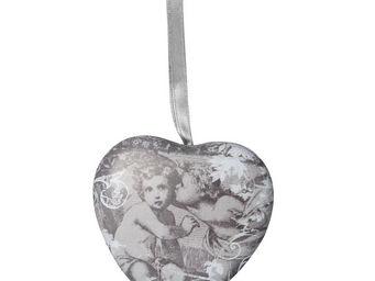 Mathilde M - cur d�coratif anges au baiser - Coeur