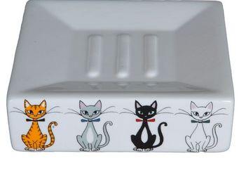 SIRETEX - SENSEI - porte savon chats chics - Porte Savon À Poser