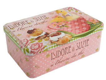 Orval Creations - bo�te � sucre isidore et suzie - Boite � Biscuits