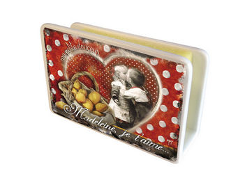 Orval Creations - cache-�ponges madeleine, je t'aime - Porte �ponge