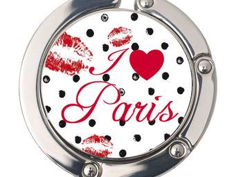 Orval Creations - porte-sac rond i love paris - Accroche Sac