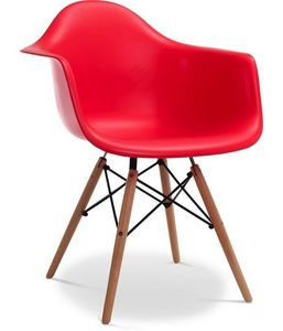 Charles & Ray Eames - chaise eiffell aw rouge charles eames lot de 4 - Chaise Réception