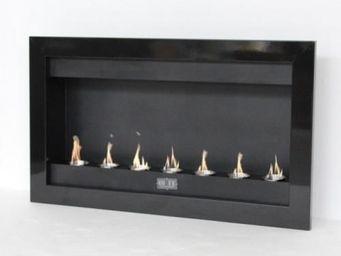 Up Trade - chemine thanol panoramique noir 7 feux - Chemin�e Sans Conduit D'�vacuation