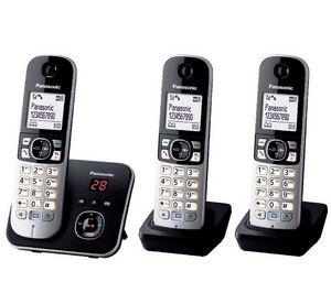 PANASONIC - tlphone rpondeur dect kx-tg6823 trio - noir - Téléphone