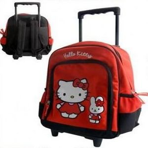 HELLO KITTY - trolley hello kitty rouge - Sac D'écolier