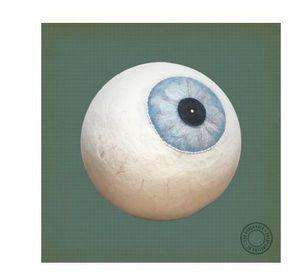SAVO & POMELINA - enter pouf eye blue - Pouf