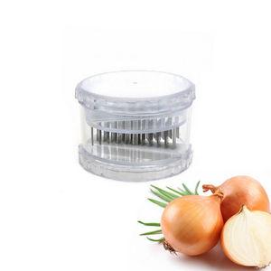 WHITE LABEL - trancheuse à oignons en plastique et acier inoxyda - Coupe Oignon