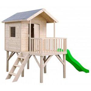 JARDIPOLYS - maisonnette enfant en bois pumba + - Maison De Jardin Enfant